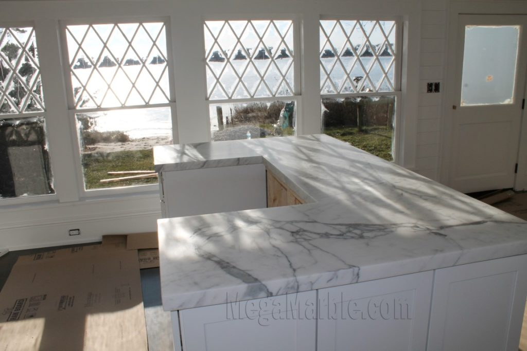 White Marble Countertops in The Hamptons NY
