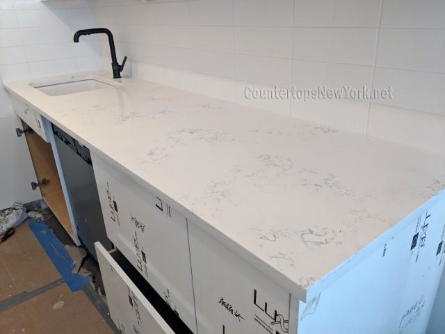 Kitchen Countertops White Quartz NYC